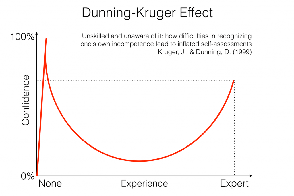 Basic SEO Dictionary - The Dunning–Kruger effect on SEO learning